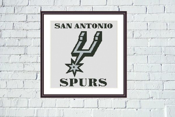 San Antonio Spurs cross stitch pattern