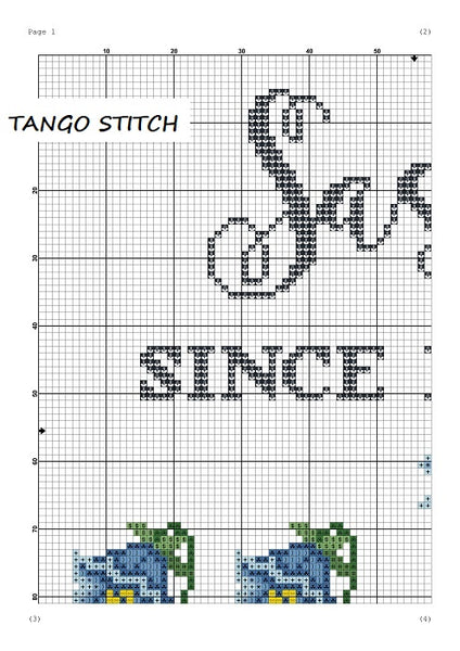 Sassy since birth funny quote cross stitch pattern