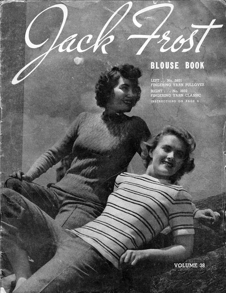 Blouse book vintage knitting patterns - JPCrochet