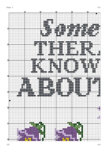 Someone's therapist know all about you sarcastic cross stitch pattern