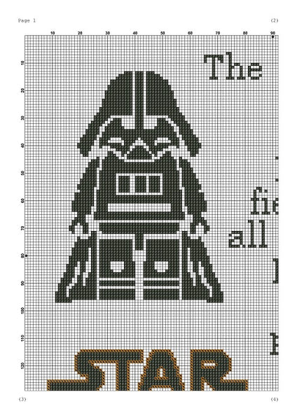 The Force Star Wars movie quote cross stitch pattern
