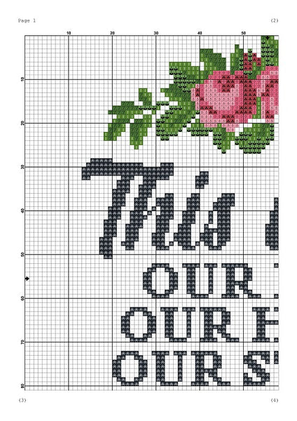 This is us: Our life. Our home. Our story housewarming cross stitch pattern