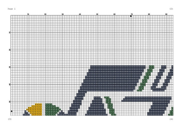 Utah Jazz cross stitch pattern