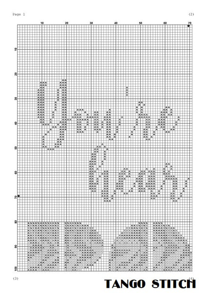 You're gonna hear me roar tiger print cross stitch pattern
