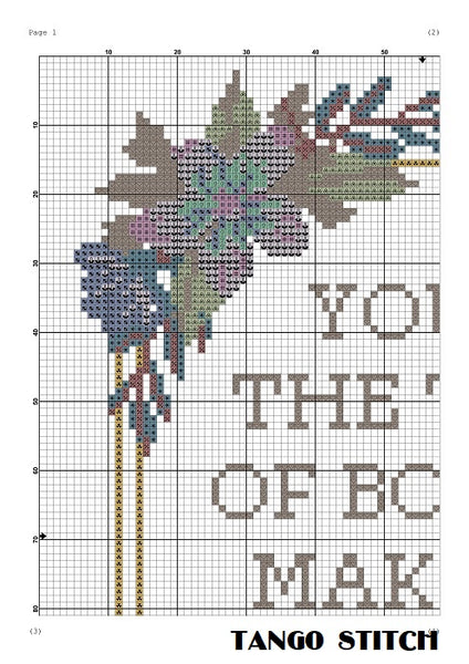 You're the type of boy funny romantic cross stitch pattern