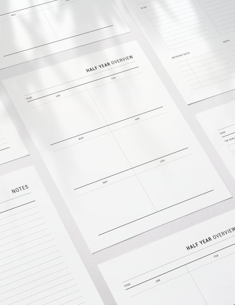 Printable Yearly Planner | Undated | Printable Planner Essentials | A4 | A5 | US Letter | Printable Planner Pages | Minimal Aesthetic | Clean Design | PDF + JPEG | PAPER MOON Art & Design