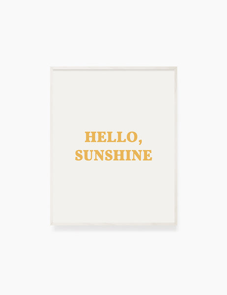 HELLO, SUNSHINE. Hello Sunshine Quote. Yellow. Printable Wall Art Quote. - PAPER MOON Art & Design