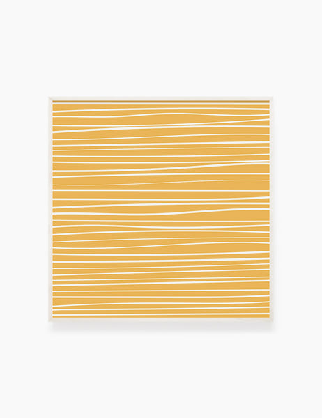 WAVY LINES. YELLOW. Minimalist. Abstract. Boho Art. Printable Wall Art Illustration. - PAPER MOON Art & Design