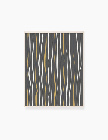 ABSTRACT MINIMAL WAVY LINES. Boho Art. Print. Printable Wall Art Illustration. Wavy lines in dark grey, dull orange, and beige. Abstract art. Minimal design. Minimalist, abstract illustration art. Printable poster. | PAPER MOON Art & Design