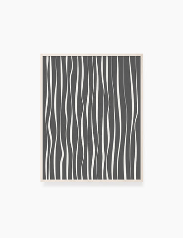 ABSTRACT MINIMAL WAVY LINES. Boho Art. Print. Printable Wall Art Illustration. Wavy lines in dark grey and beige. Abstract art. Minimal design. Minimalist, abstract illustration art. Printable poster. | PAPER MOON Art & Design