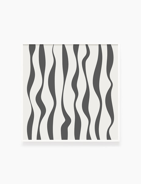 ABSTRACT MINIMAL WAVY LINES. Boho Art Print. Printable Wall Art Illustration. Wavy lines in dark grey and beige. Abstract art. Minimal design. Minimalist, abstract illustration art. Printable poster. | PAPER MOON Art & Design