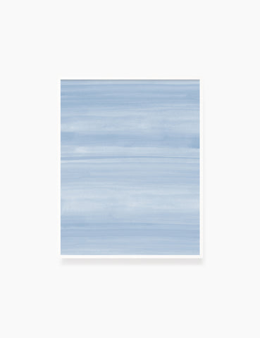 SOFT BLUE OCEAN WAVES. WATERCOLOR PAINTING. Abstract Art. Printable Wall Art Illustration. - PAPER MOON Art & Design