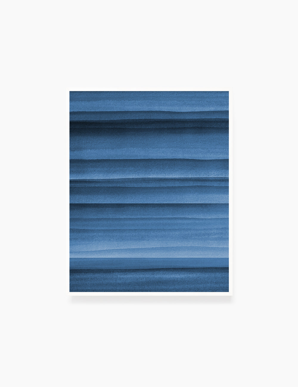 BLUE OCEAN WAVES. WATERCOLOR PAINTING. Abstract Art. Printable Wall Art Illustration. - PAPER MOON Art & Design