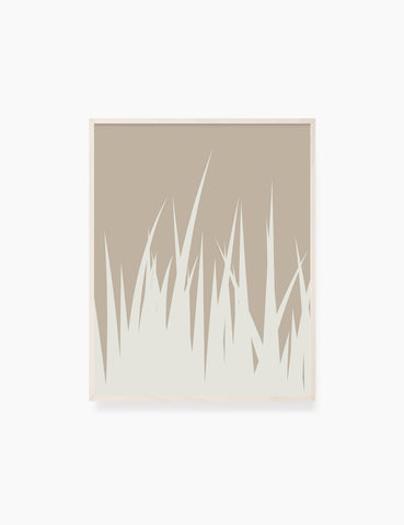 GRASS. MINIMALIST BOTANICAL BOHO ART. BEIGE. Printable Wall Art Illustration. - PAPER MOON Art & Design