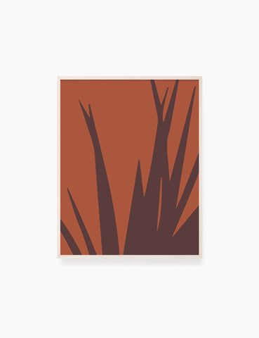 LEAVES. GRASS. MINIMALIST BOTANICAL BOHO ART. BURNT ORANGE, BROWN. Printable Wall Art Illustration.