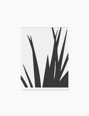 LEAVES. GRASS. MINIMALIST BOTANICAL BOHO ART. BLACK AND WHITE. Minimal Aesthetic. Clean Design. Printable Wall Art Illustration. - PAPER MOON Art & Design
