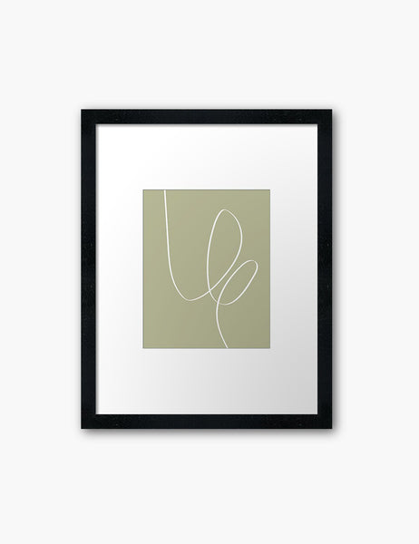 MINIMAL LINE ART. Abstract. Boho. Green. Printable Wall Art Illustration. - PAPER MOON Art & Design