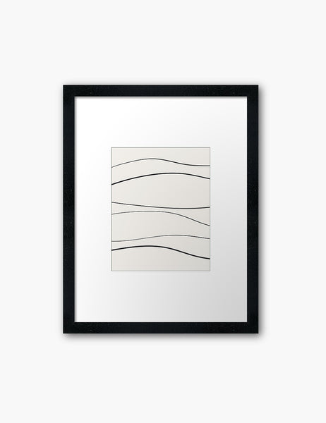 MINIMAL LINE ART. Abstract Waves. Boho. Beige. Black. Printable Wall Art Illustration. - PAPER MOON Art & Design