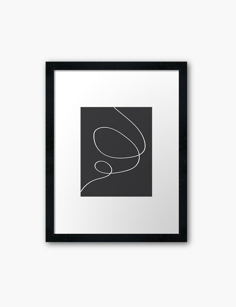 MINIMAL LINE ART. Abstract. Boho. Black and White. Printable Wall Art Illustration. - PAPER MOON Art & Design