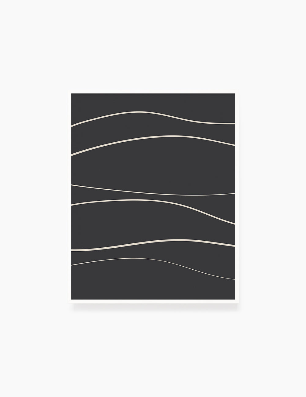 MINIMAL LINE ART. Abstract Waves. Boho. Black and White. Printable Wall Art Illustration. - PAPER MOON Art & Design