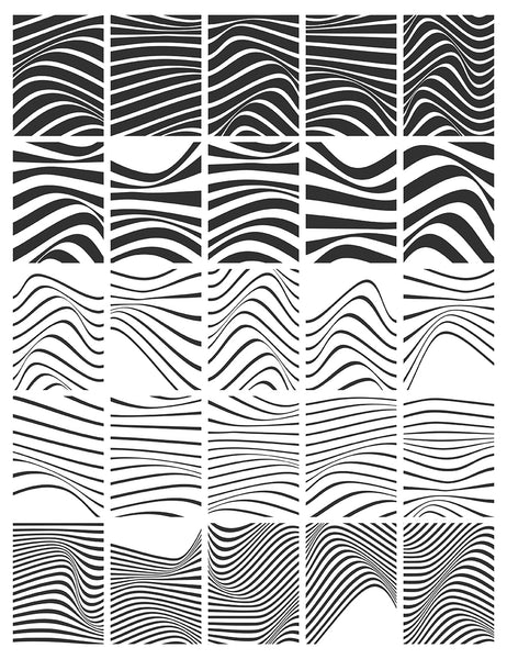 50 Abstract Wavy Vector Backgrounds 01 Abstract Wavy Lines - Paper Moon Art & Design