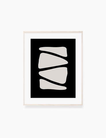 BLACK AND BEIGE MINIMALIST ABSTRACT ART. Printable Wall Art Illustration. Abstract triangle shapes. WA055