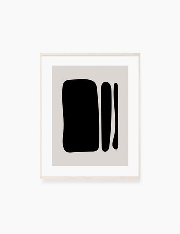 BLACK AND BEIGE MINIMALIST ABSTRACT ART. Printable Wall Art Illustration. Abstract Shapes. WA064