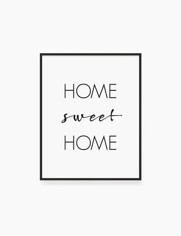 Printable Wall Art Quote: HOME SWEET HOME Printable Poster. WA005 - Paper Moon Art & Design