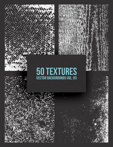 50 Vector Grunge Texture Backgrounds 03 Grungy Vector Illustrations - Paper Moon Art & Design