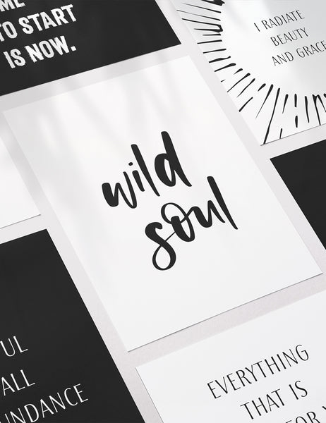 Vision Board Printables | Printable Vision Board Kit | Printable Affirmation Cards | Insprational & Motivational Quotes | Printable Quotes | Printable Journal & Planner Cards | 3.5x5 | 3x4 | 2x3 | PDF + JPEG | Planner Printables | Planner Accessories | Black and White | Clean Design | Minimal Aesthetic