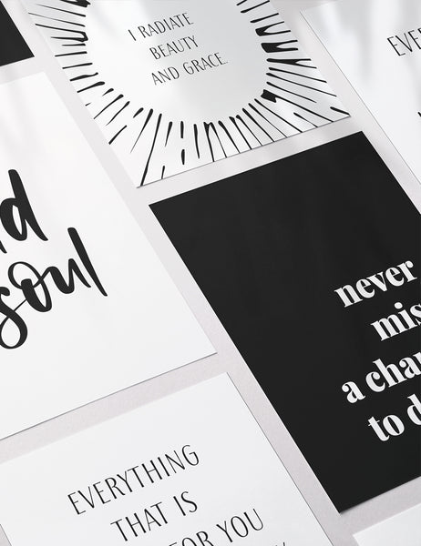 Vision Board Printables Kit | Printable Quotes & Affirmation Cards | Printable Journal & Planner Cards | 3.5x5 | 3x4 | 2x3 | PDF + JPEG | 04