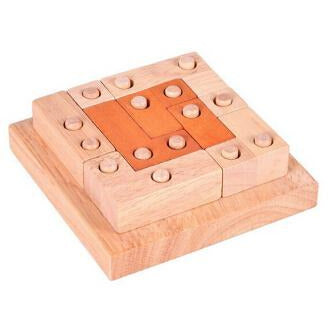 Classic IQ Puzzle Mind Brain Teaser 2D 3D Wooden Puzzles Educational Game for Adults Children