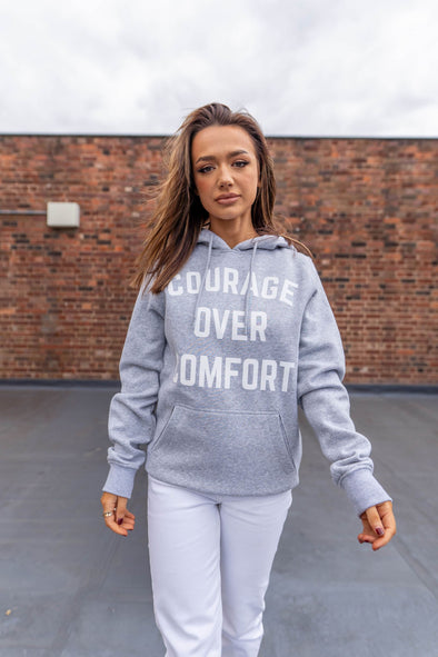 COURAGE OVER COMFORT - HOODIE
