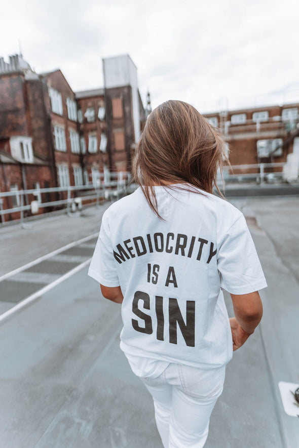 KOBY LOGO - MEDIOCRITY IS A SIN - T-SHIRT