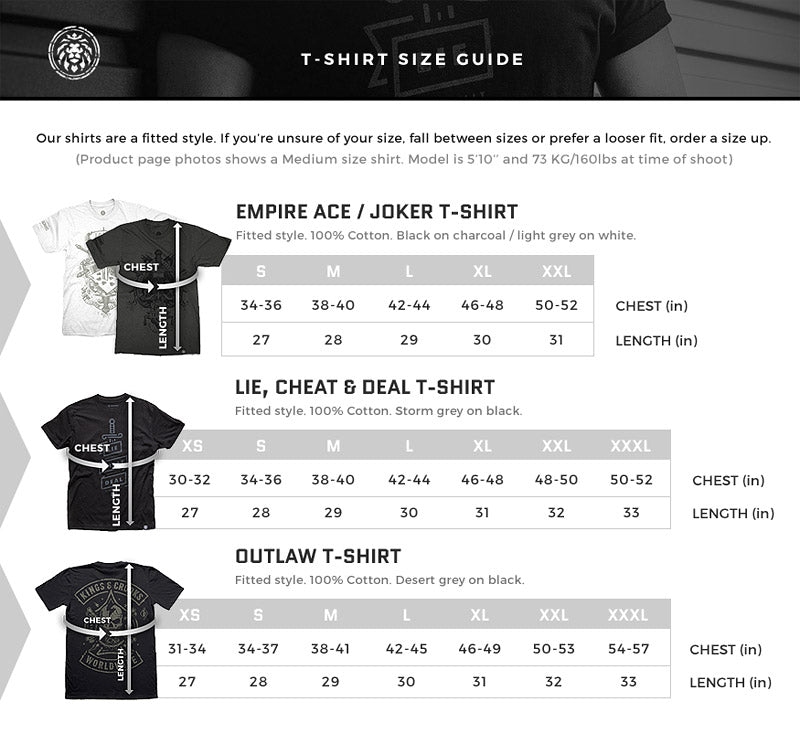 apparel size guide