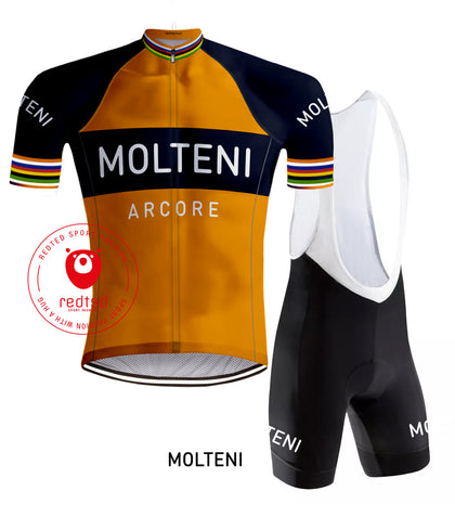 Molteni Orange Retro Cycling jersey - RedTed Retro