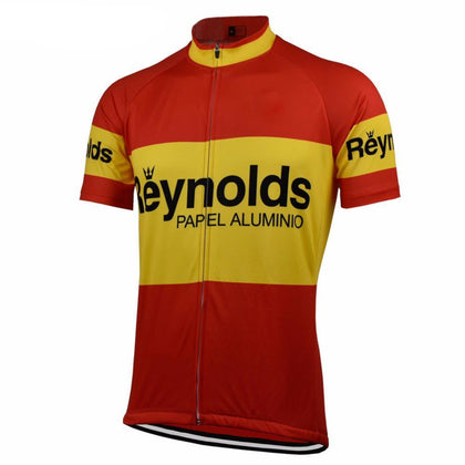 Retro Wielershirt Reynolds - Rood/Geel