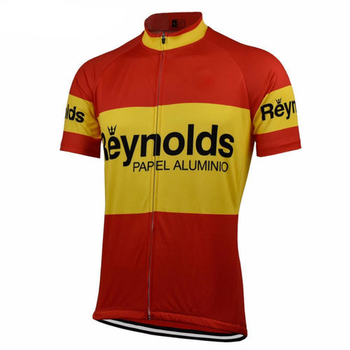 Retro Cycling Jersey Reynolds - Red/Yellow