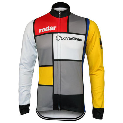 Warm Retro Cycling Jacket (fleece) La Vie Claire - Multicoloured