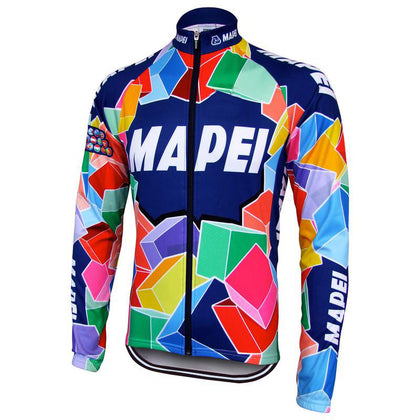 Retro Winter Wielerjack (fleece) Mapei - Veelkleurig