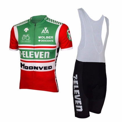 Retro Cycling Outfit 7-Eleven - Red/Green