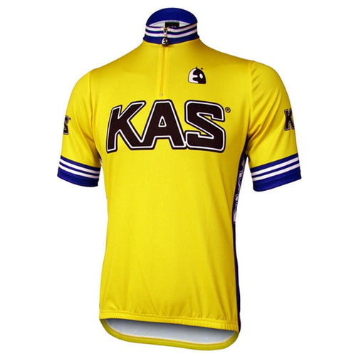 Retro Wielershirt Kas Kaskol - Geel