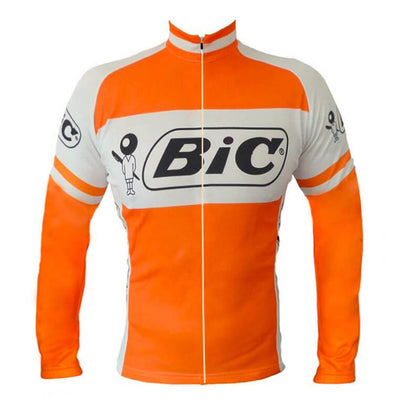 Retro Winter Wielerjack (fleece) Bic - Oranje