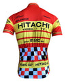 Retro Wielershirt Hitachi - Rood/Geel