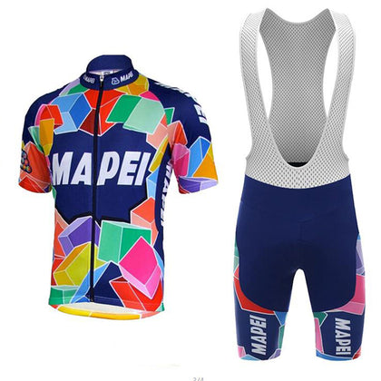 Retro Cycling outfit Mapei - Multicoloured