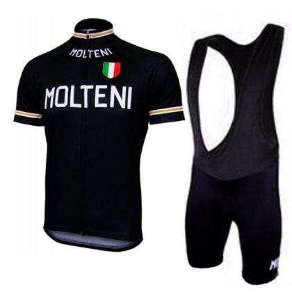 Retro Cycling Outfit Molteni Arcore - Black
