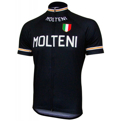 Retro Cycling Jersey Molteni - Black