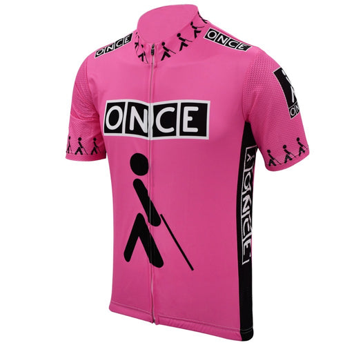 Retro Wielershirt ONCE - Roze