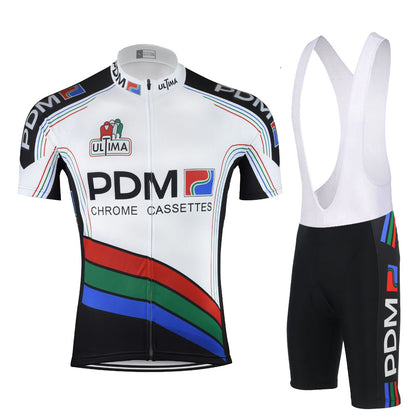 Retro Cycling Outfit PDM - White