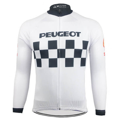 Retro Winter Radjacke Peugeot - Weiss